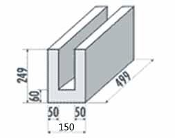 Porenbeton U-Schale 150mm