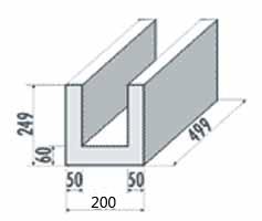 Porenbeton U-Schale 200mm