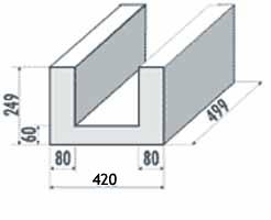 Porenbeton U-Schale 420mm
