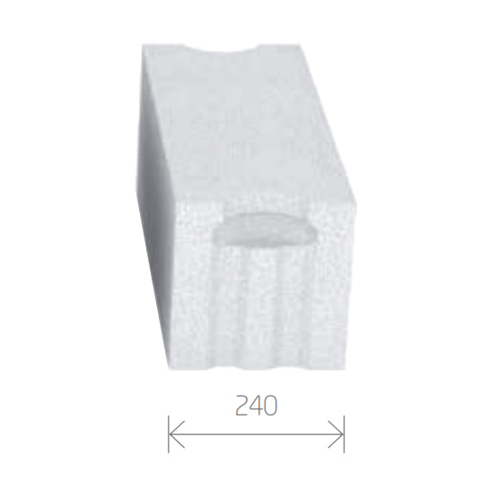 Gasbetonstein - Porenbetonstein 240mm Breite