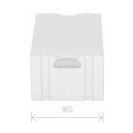 Gasbetonstein - Porenbetonstein 365mm Breite