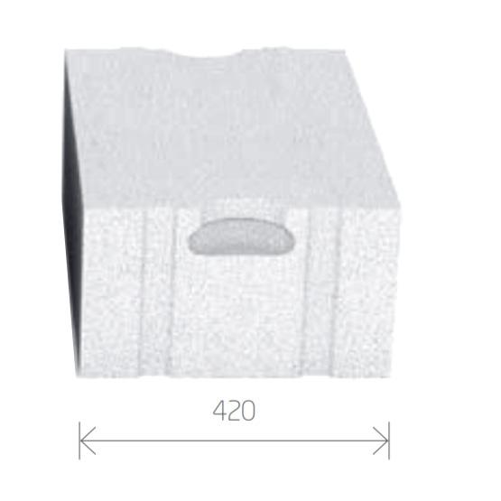 Gasbetonstein - Porenbetonstein 420mm Breite