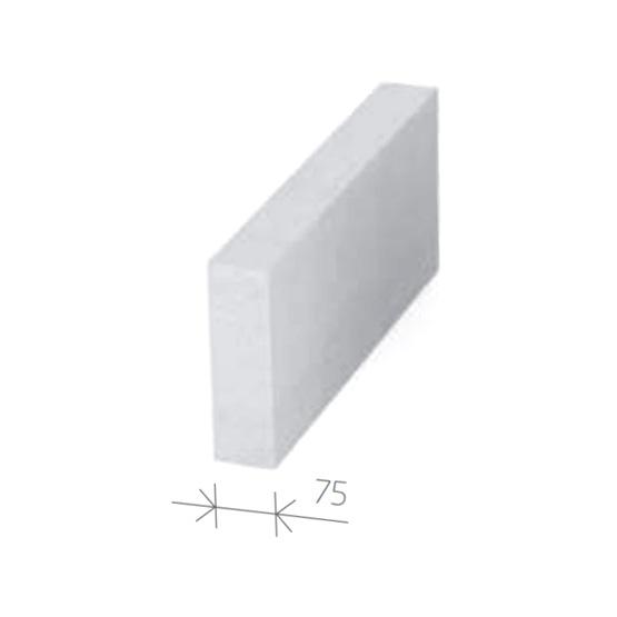 Gasbetonstein - Porenbetonstein 75mm Breite