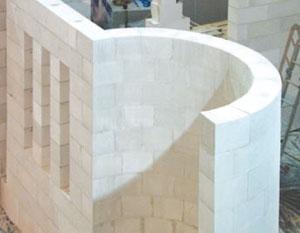 einfache Architektur mit Gasbetonsteinen