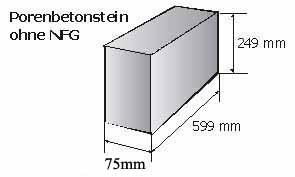 Porenbeton Planstein 75mm