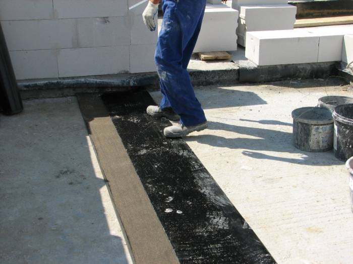 Zuschneiden der Dachpappe