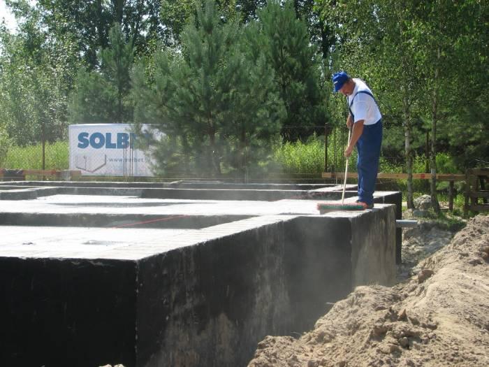 Vorbereitung der Grundmauern